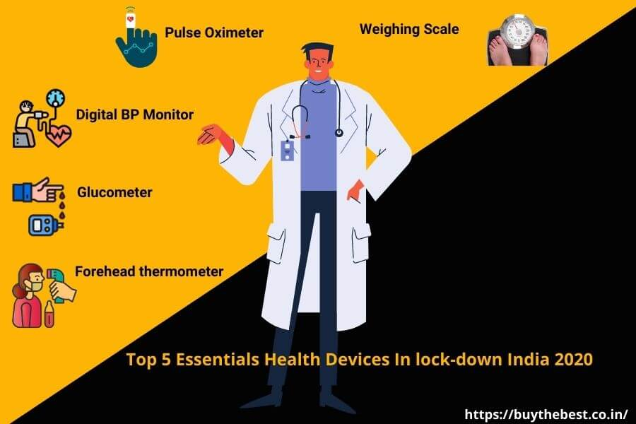 Top 5 Essential Health Monitoring Devices, In lock-down India 2020